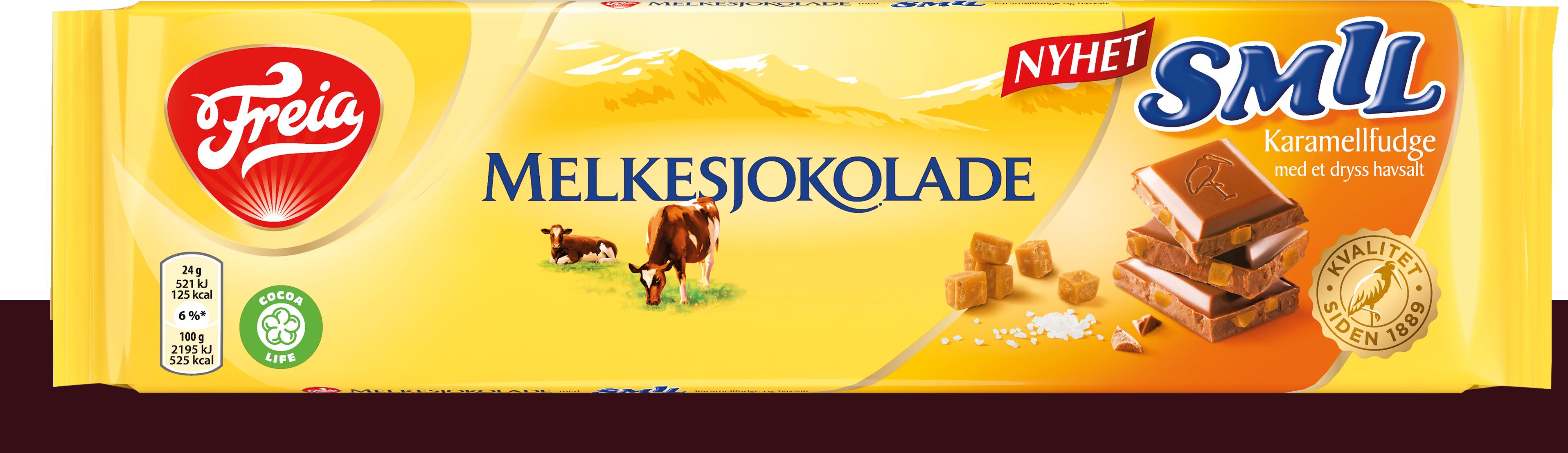 Freia Melkesjokolade Smil Karamellfudge 200g